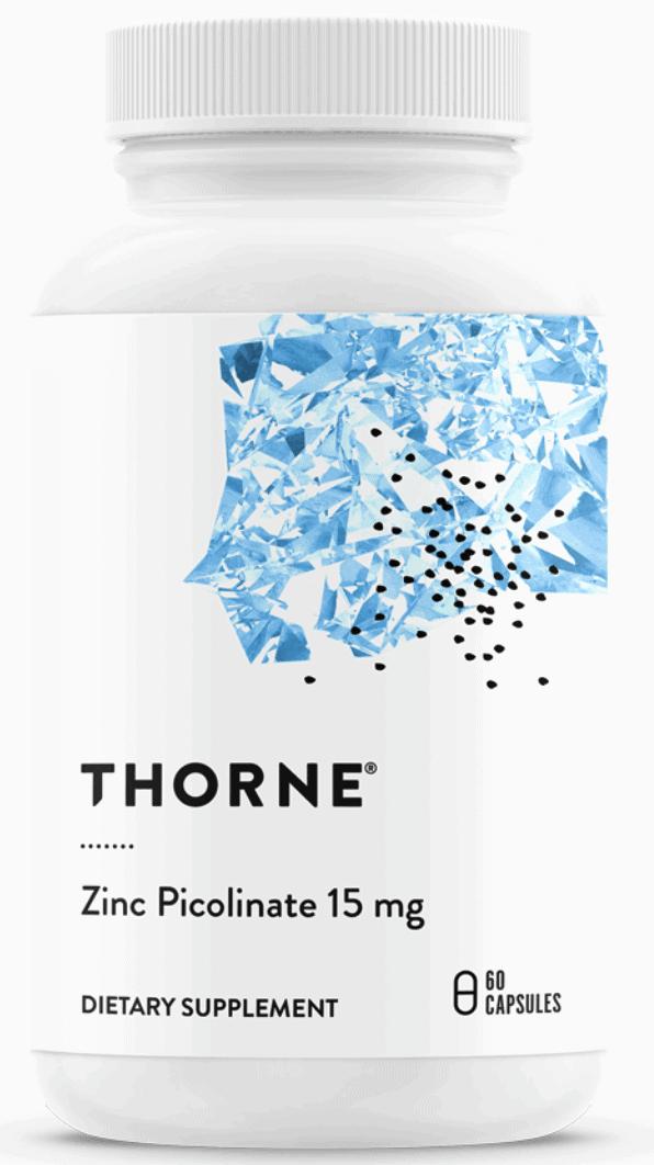 THORNE Research Zink Zinkpicolinat - 15mg 60 Kapseln - VERSAND WELTWEIT 2