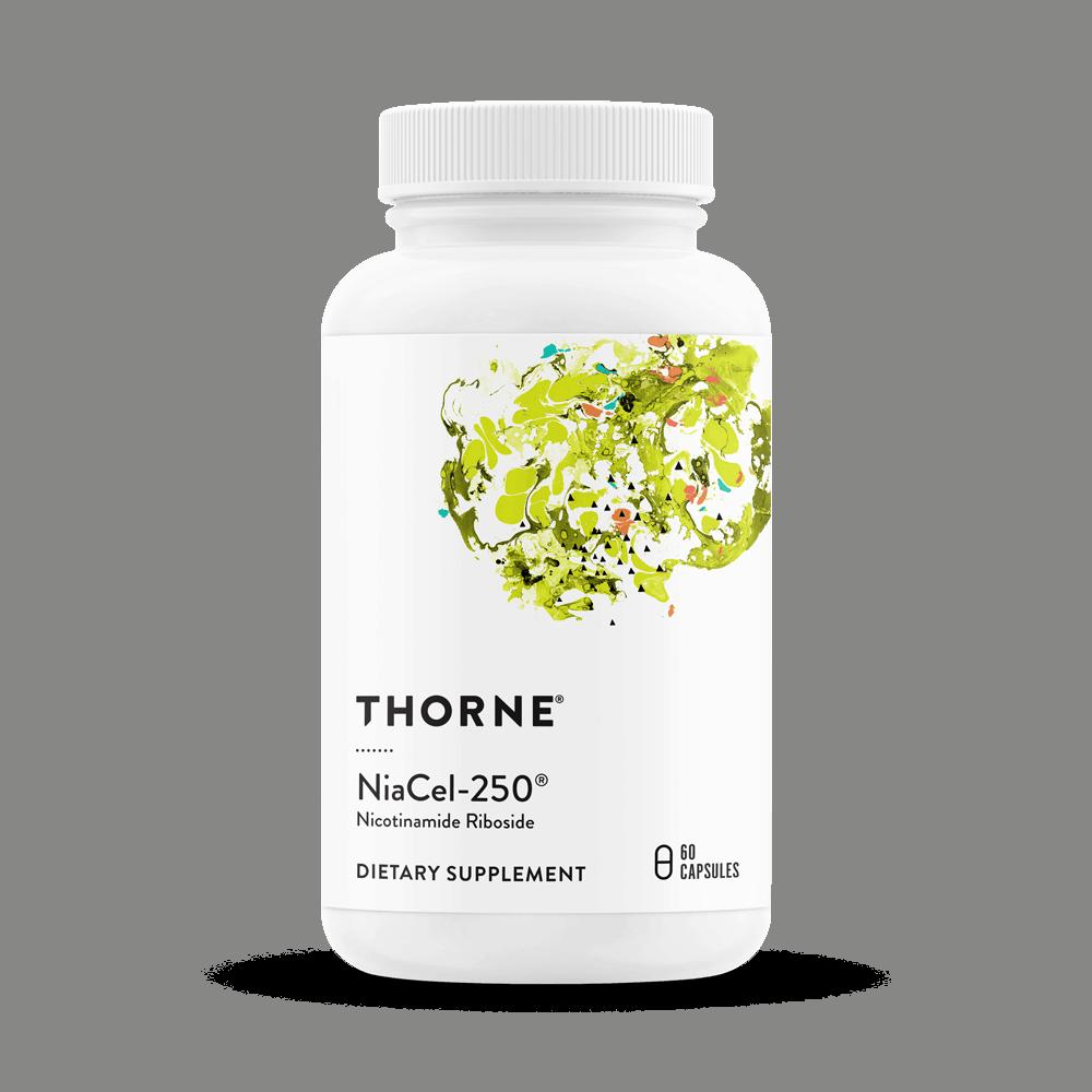 THORNE NiaCel-250® (Nicotinamid Ribosid) 60 Vege Kapseln, VERSAND WELTWEIT 2
