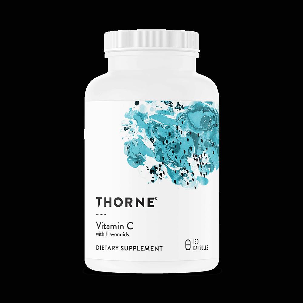 THORNE RESEARCH Vitamin C mit Flavonoiden 180 Vege Kapseln, VERSAND WELTWEIT 2