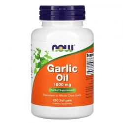 NOW FOODS Garlic Oil 1500mg (Olej z czosnku) 250 Softgels